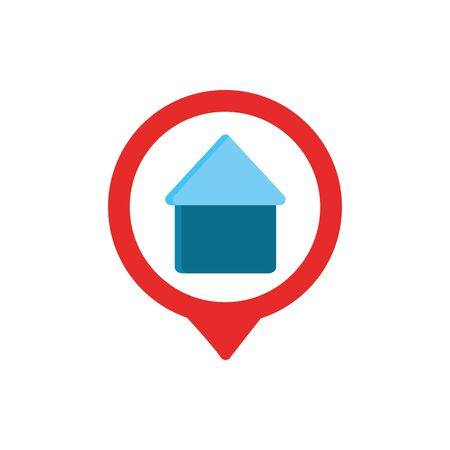 house pin gps map and navigation Illustration
