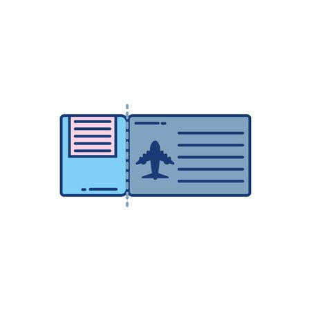 Isolated airplane ticket icon design