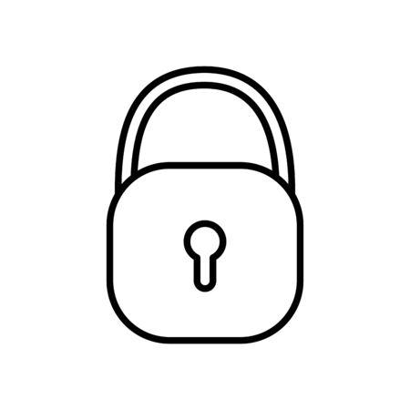 Isolated padlock icon design Foto de archivo - 134492401