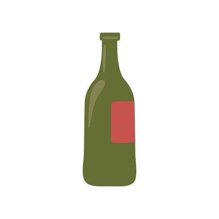 Isolated wine bottle design