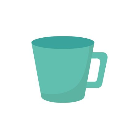 green coffee cup ceramic icon