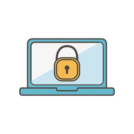 laptop computer security social media icon