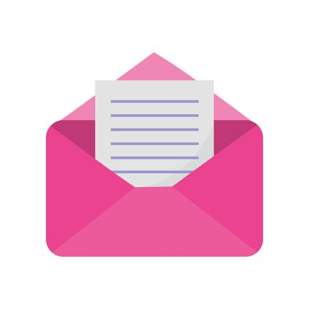 pink open envelope letter message mail icon