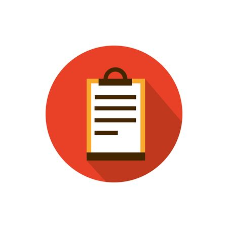 clipboard document list business strategy icon block shadow