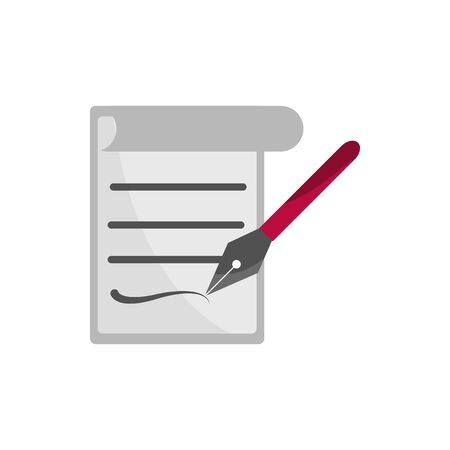 document signature fountain pen property intellectual copyright icon