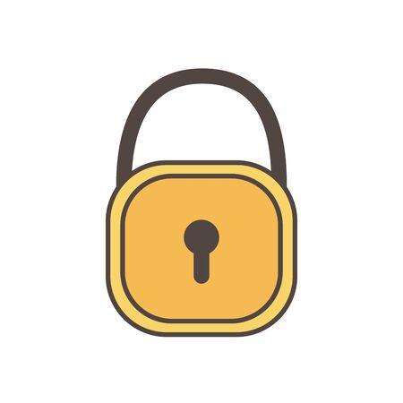 padlock security social media icon Ilustração