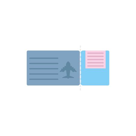 Isolated airplane ticket vector design