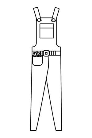 construction clothing cartoon