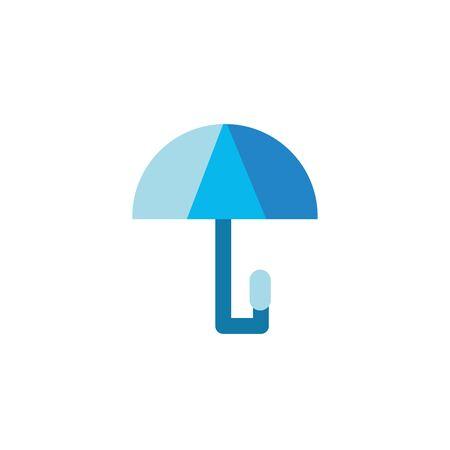 umbrella water flat style icon vector illustration design