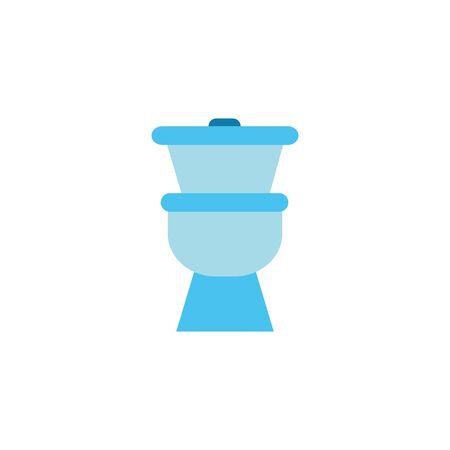 toilet ceramic flat style icon
