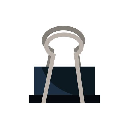 paper clip office work business equipment icon