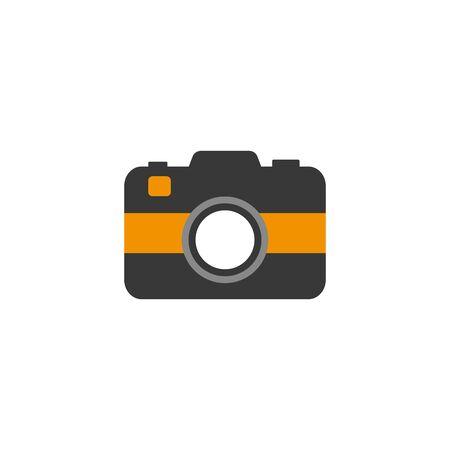 travel camera flat style icon Illustration