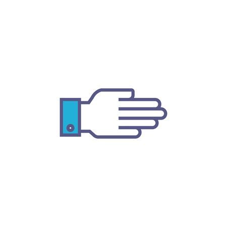 hand person fill style icon
