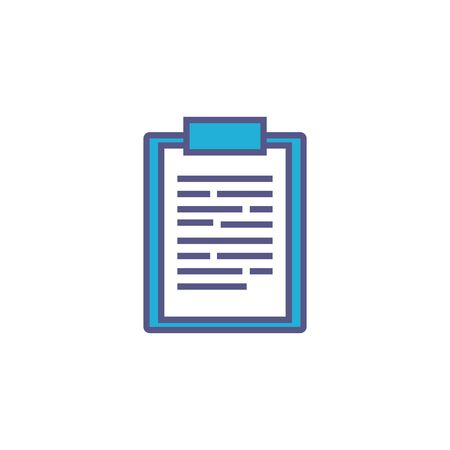 checklist document fill style icon Иллюстрация