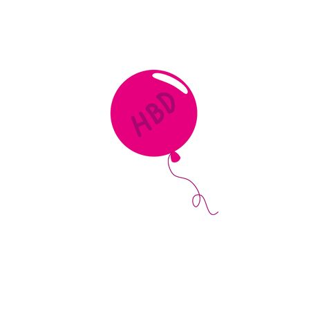 balloon helium air detailed style vector illustration design
