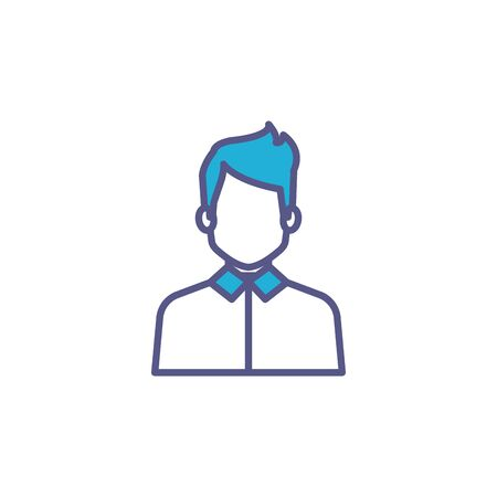 business man fill style icon vector illustration design