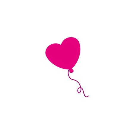 balloon helium in shape heart detailed style