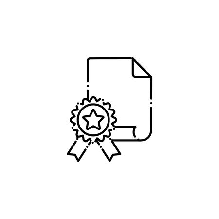 vote paper document line style icon