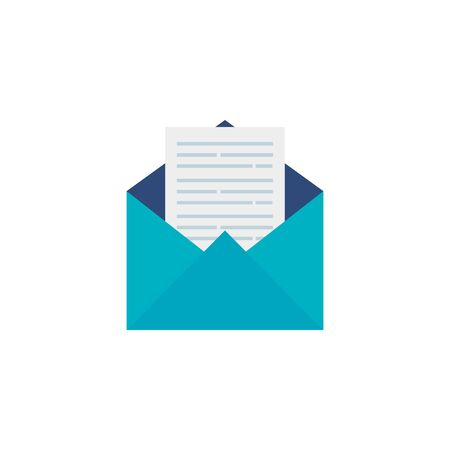 envelope mail open flat style icon
