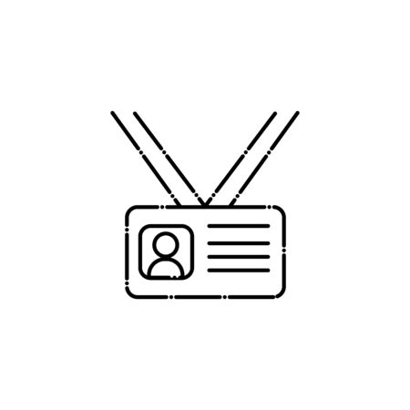 document id vote line style icon vector illustration design  イラスト・ベクター素材