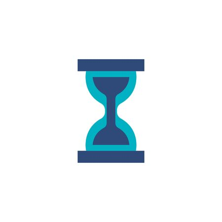 hourglass time flat style icon