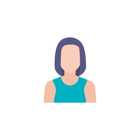 business woman flat style icon vector illustration design