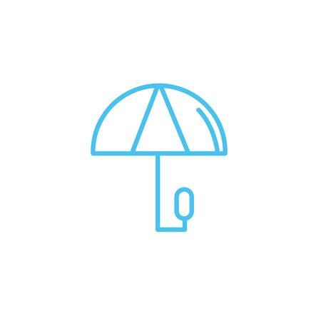 umbrella water line style icon Çizim
