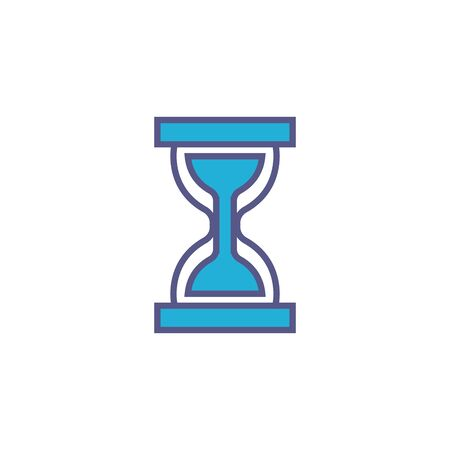 hourglass time fill style icon Иллюстрация