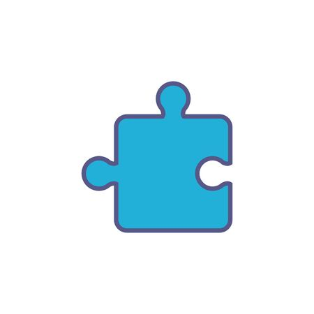 team puzzle piece fill style icon