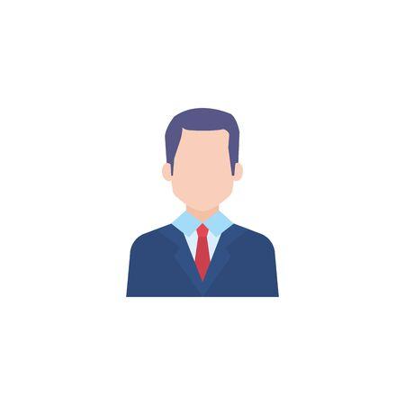 business man flat style icon vector illustration design