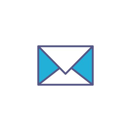 envelope mail fill style icon