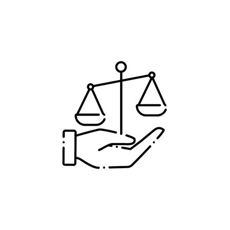 hand lifting balance vote line style icon Illusztráció
