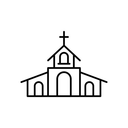 church building line style icon