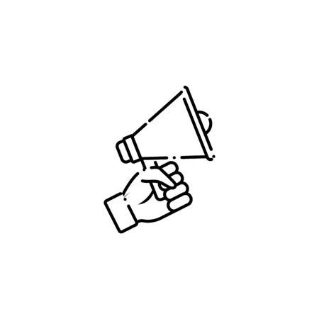 vote megaphone line style icon vector illustration design