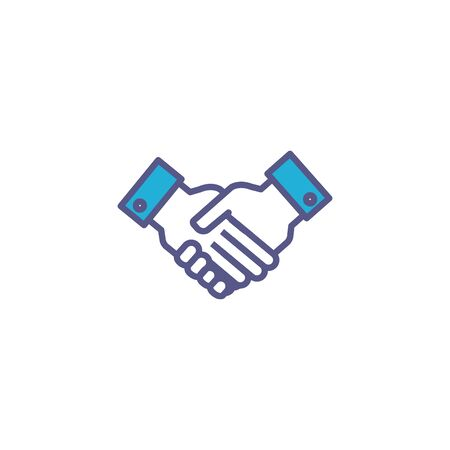 team holding hands fill style icon