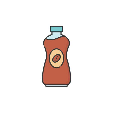Isolated iced coffee bottle icon fill design