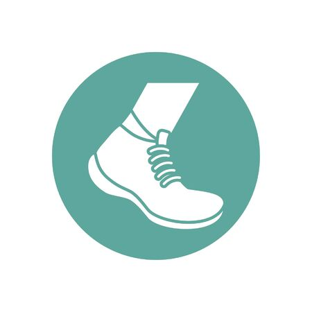 Isolated gym shoe sport icon block line design