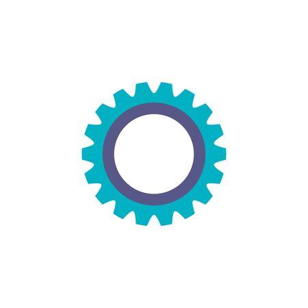 team gear flat style icon