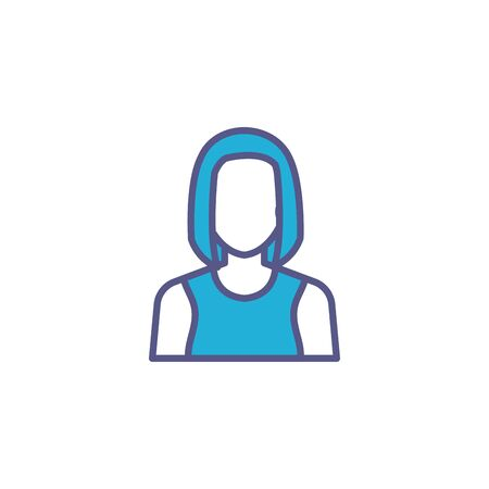 business woman fill style icon vector illustration design