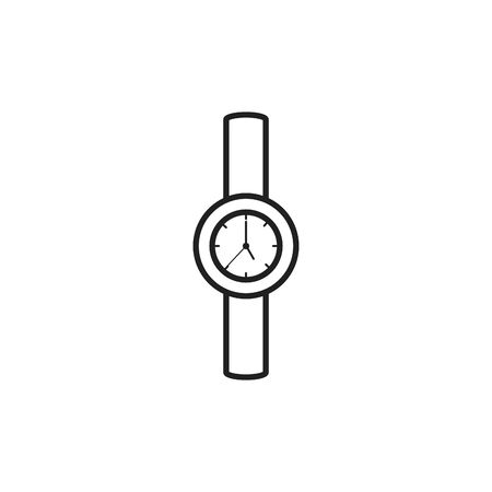 Isolated watch icon line design