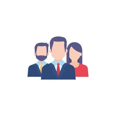 business people flat style icon vector illustration design