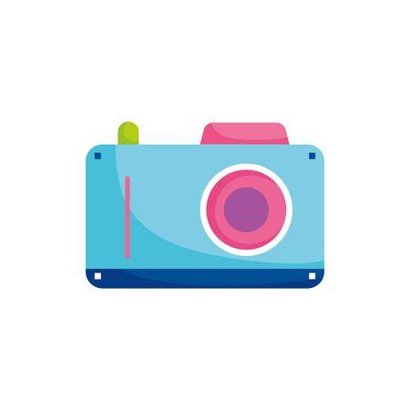 summer photographic camera fill style vector illustration design Illusztráció