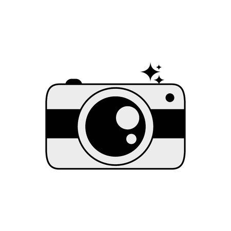 Isolated camera icon line design Illusztráció