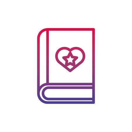book bookmark fantasy line gradient icon vector illustration