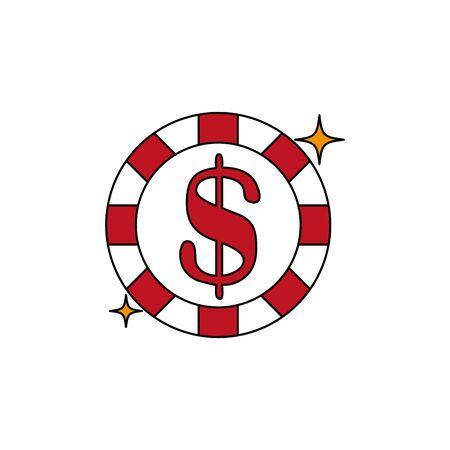 Isolated casino chip fill design