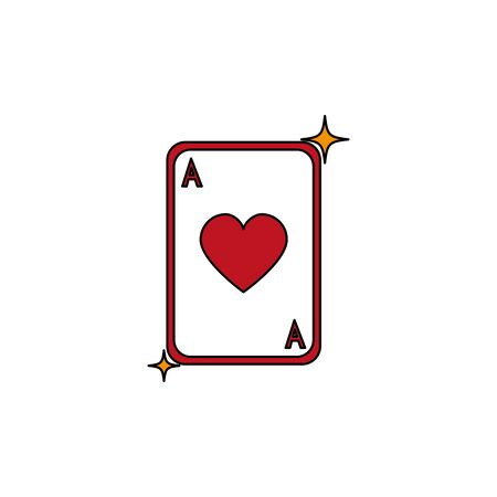 Card design, Casino las vegas game lucky play win and chance theme Vector illustration