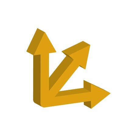 arrows intersection 3d style icon