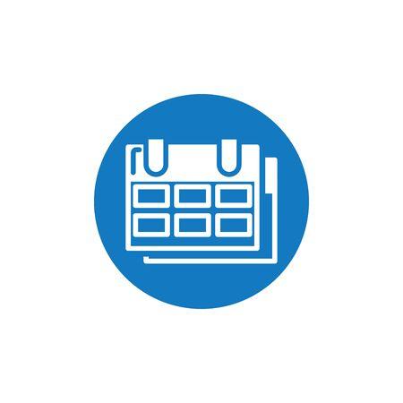 Isolated calendar block and flat design Standard-Bild - 134571236