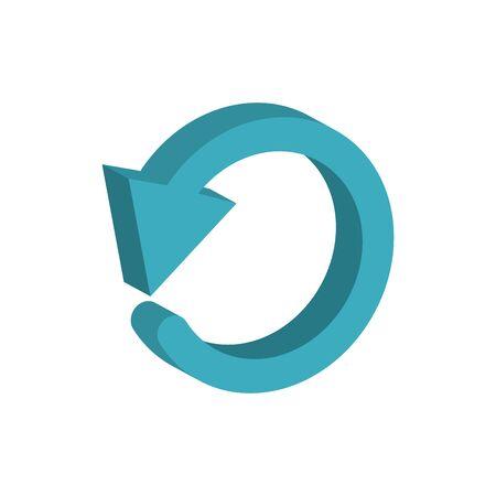 circle arrow 3d style icon Ilustrace