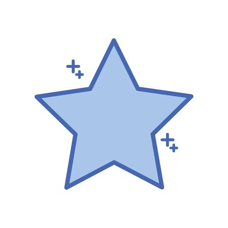 star five pointed fill style icon Stock Illustratie